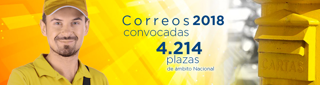 Correos 2018 - 4.214 plazas